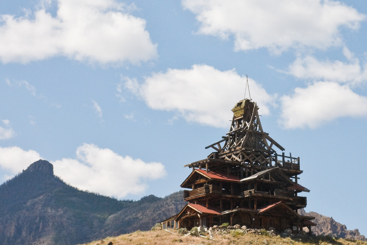 Strange log building