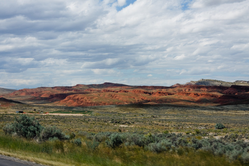 Unusually red rocks