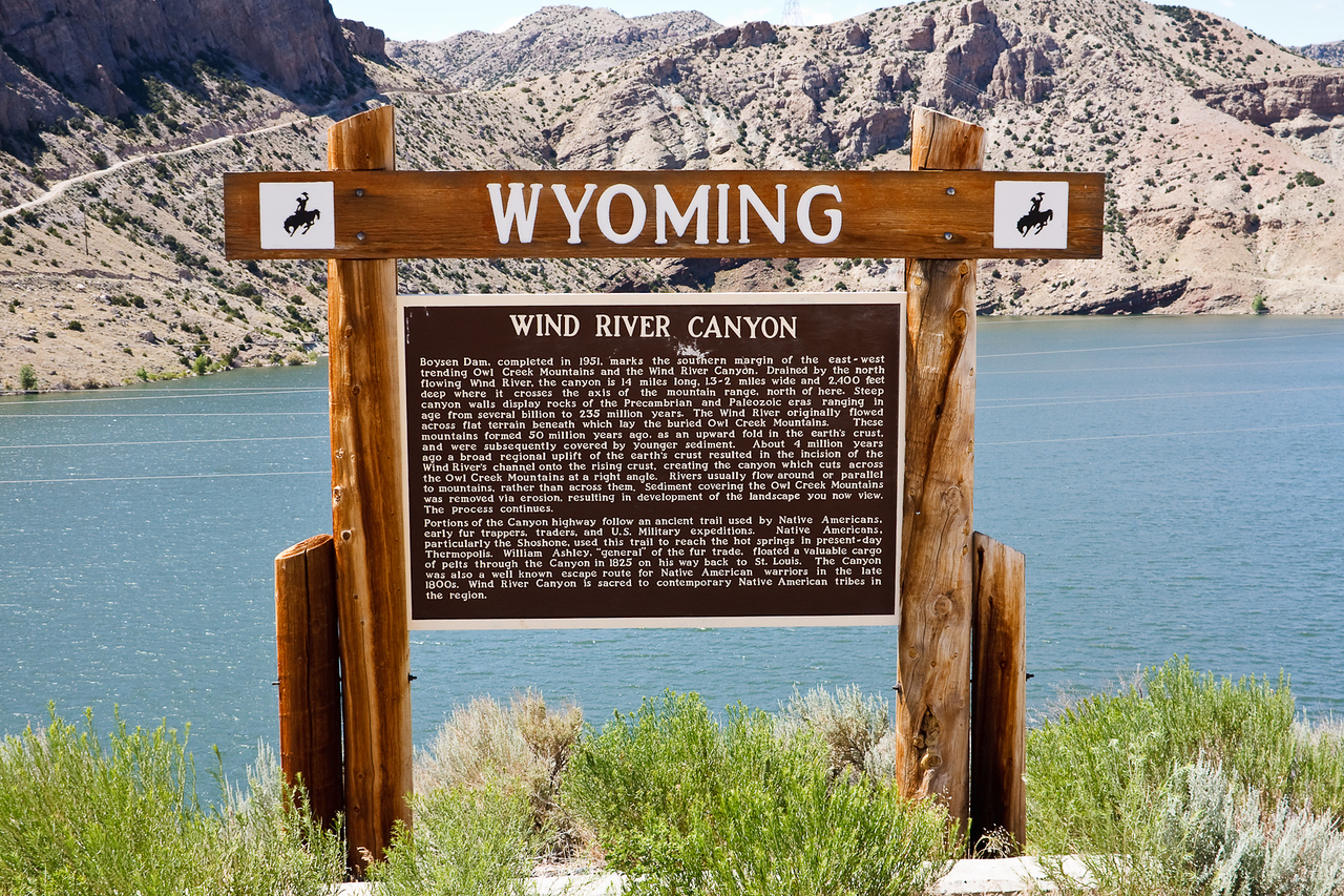 Wind River Canyon history