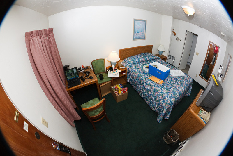 This was the smallest and most expensive hotel room I stayed in the entire trip.  It was also the cheapest I could find near Yellowstone, a month and a half prior to my trip, when I was finally sure I was going.