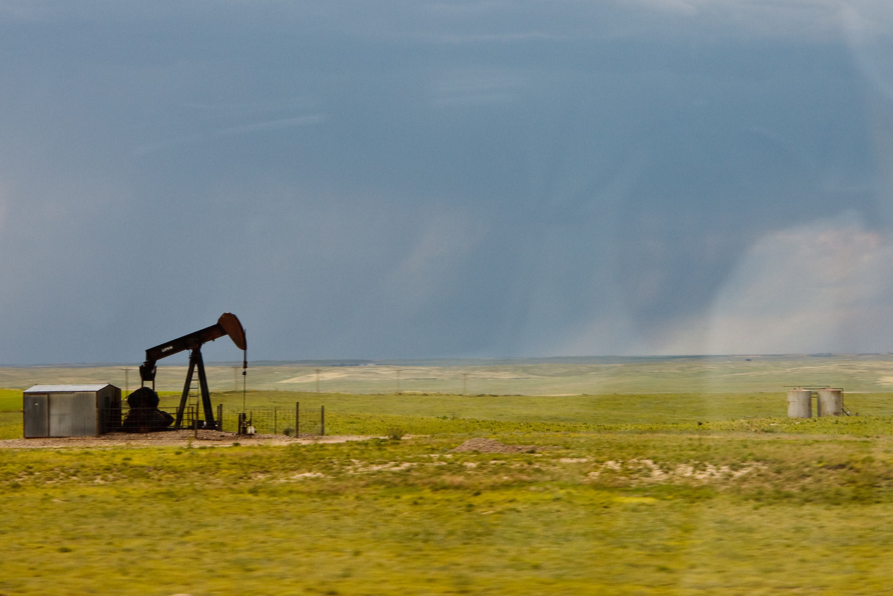 Oil well in western Nebraska