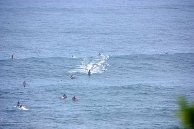 Jes skis waiting to rescue surfers Jaws