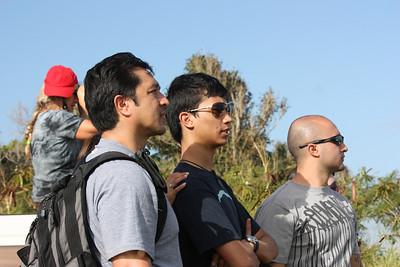 Manny, Daniel, Kris watching Jaws
