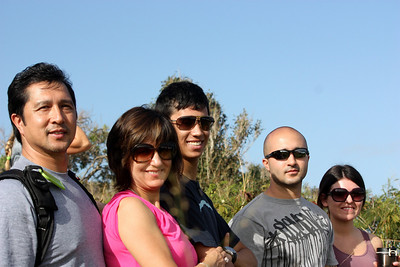 Manny, Martha, Daniel, Kris, Nichole watching Jaws on Maui 2011
