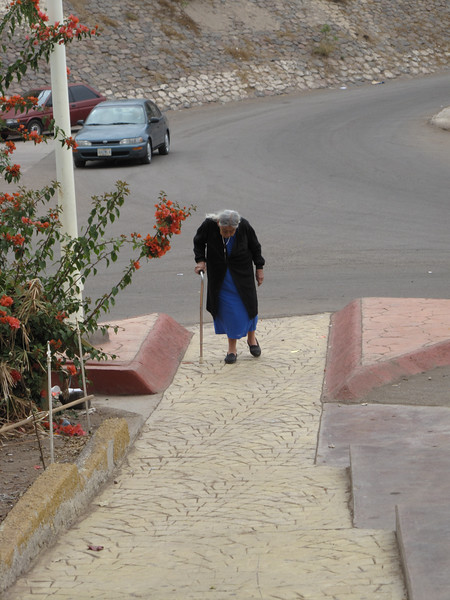 sunday morning...heading to church in Santa Rosalia