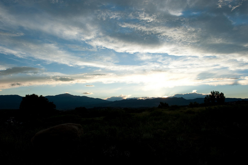 Pikes Peak at Sunset from Colorado Springs, CO