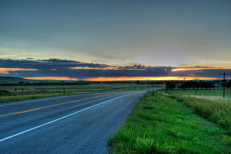 Sunrise HDR between Colorado Springs and Limon, CO
