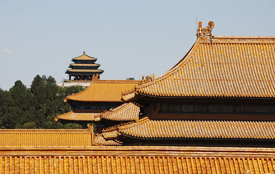 Roofs of gold could only be used in the Forbidden City.
