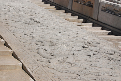 Emperors were carried  up the carved marble ramps.