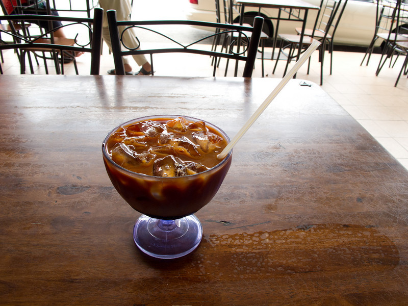 Teh C Peng special, with gula Melaka. What a thirst quencher!<br /> Betong, Sarawak.