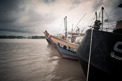 Fishing boats in Bintulu, Sarawak.