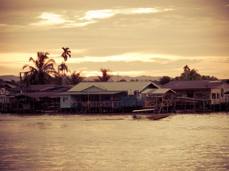 Sunset in Limbang, Sarawak.