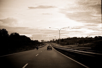 Somewhere along the road in Sibu, Sarawak.