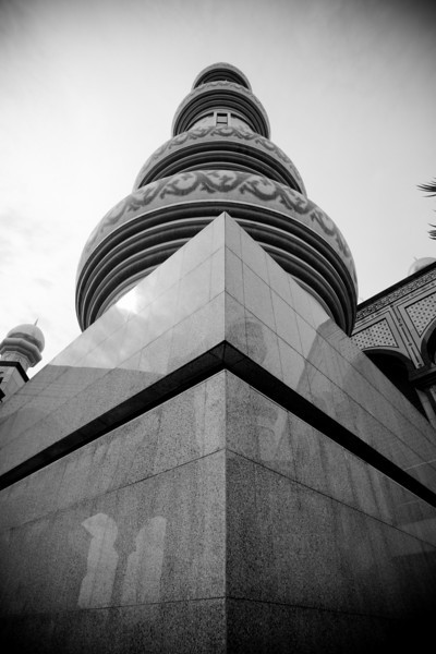 One of the minarets of Jame' Sultan Hassanal Bolkiah, BSB, Brunei.