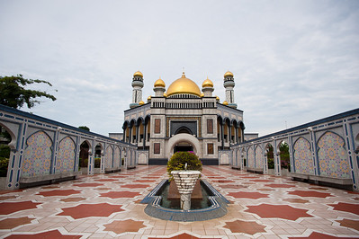 The very grand-looking Jame' Sultan Hassanal Bolkiah, BSB, Brunei.