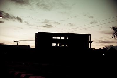 Abandoned building in Sibu, Sarawak.