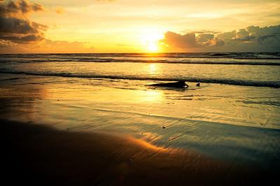 Sunset at Luak Bay, Miri, Sarawak.