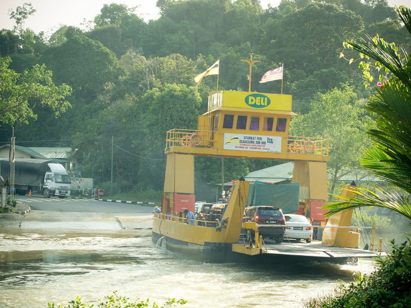 The ferry service connecting Limbang and Temburong, Sarawak. RM2 or $1 for motorcycles.