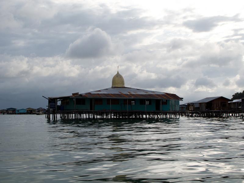 A floating mosque in Pulau Gaya, Sabah.