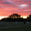 Red Lodge cemetary at sunset