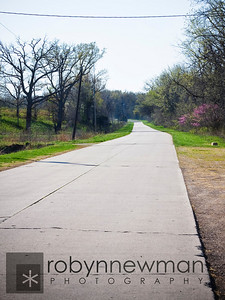 Another view of the 1/4 mile stretch of original old Route 66 road.