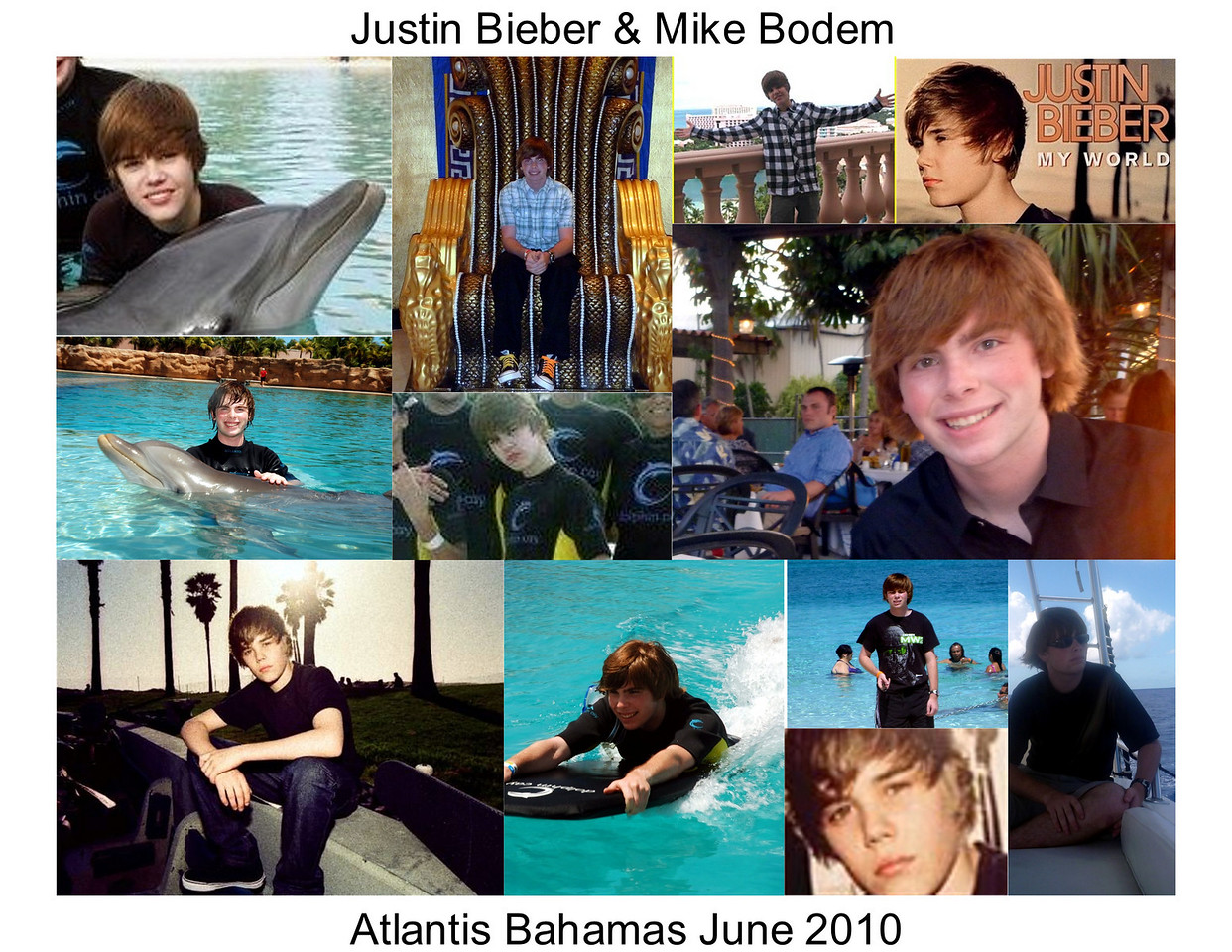 Justin Bieber held a concert at Atlantis while we were there. He stayed at our hotel.  Many people thought Mike was Justin and came up to him to shake his hand and say they enjoyed his music.