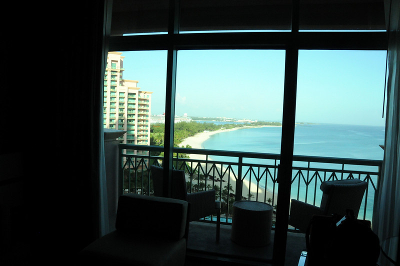Hotel room at the Cove in Atlantis.