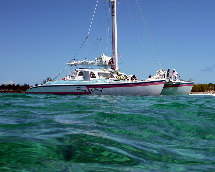 Snorkelling trip out of Paradise Island to Rose Island aboard 57' cataraman sailboat.