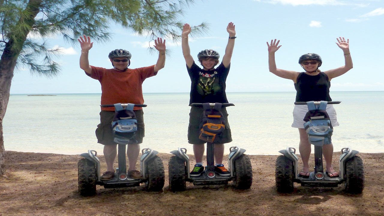 Segway tour on Paradise Island video (click on arrow)