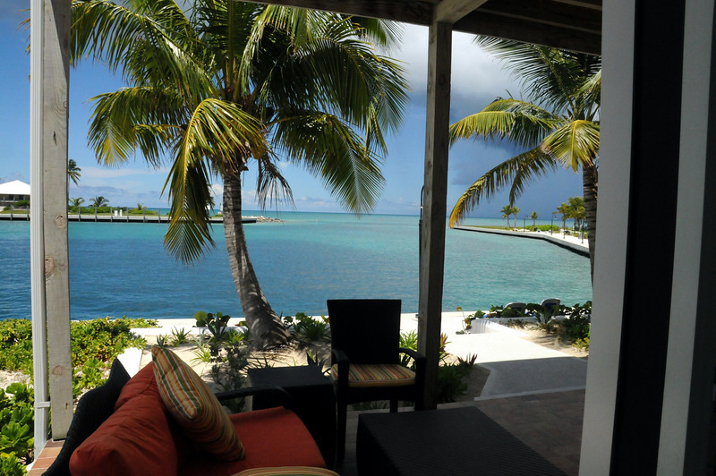 Patio of room at Cape Eleuthera Resort & Yacht Club,