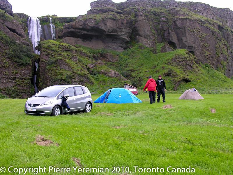 Iceland Waterfall Camping - Gljufrafoss