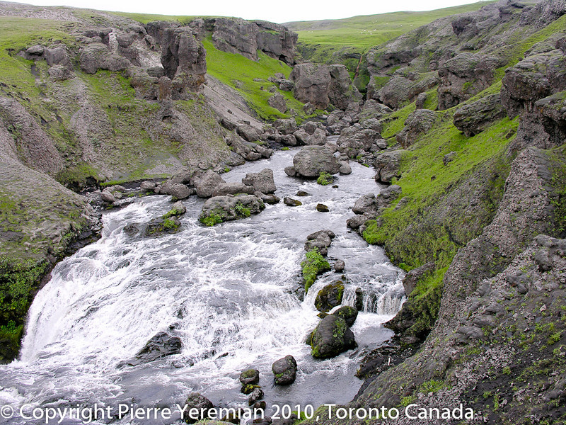 Iceland - this is the river that feeds Skógafoss about a kilometer upriver.