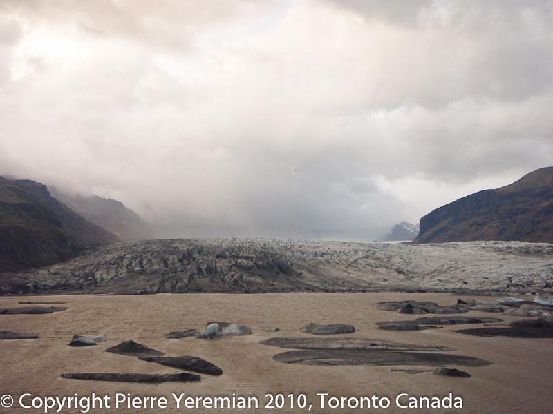 Iceland - Scaftafell national park with the Vatnajökull, glacier