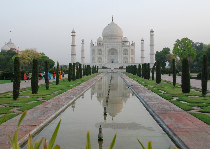 Here's the main reason we took the tour - the Taj Mahal in Agra.  This is a very early morning shot - before the enormous crowds arrived.