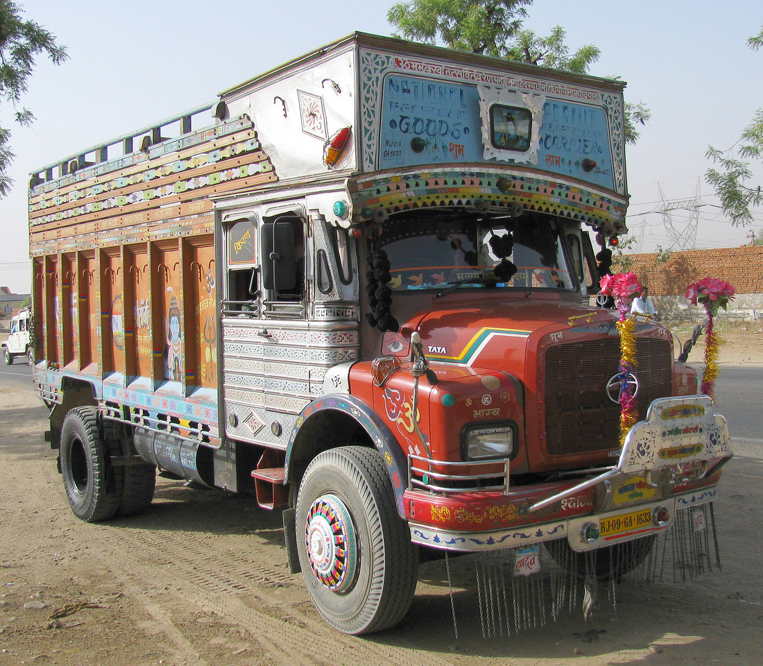 India Transportation: Decorated trucks from the south of India.
