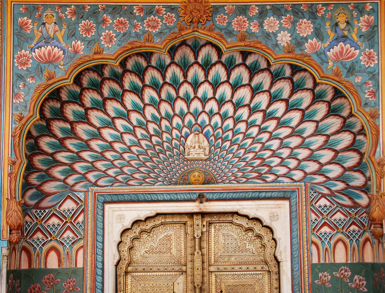 Doorway to the Jaipur City Palace Museum.
