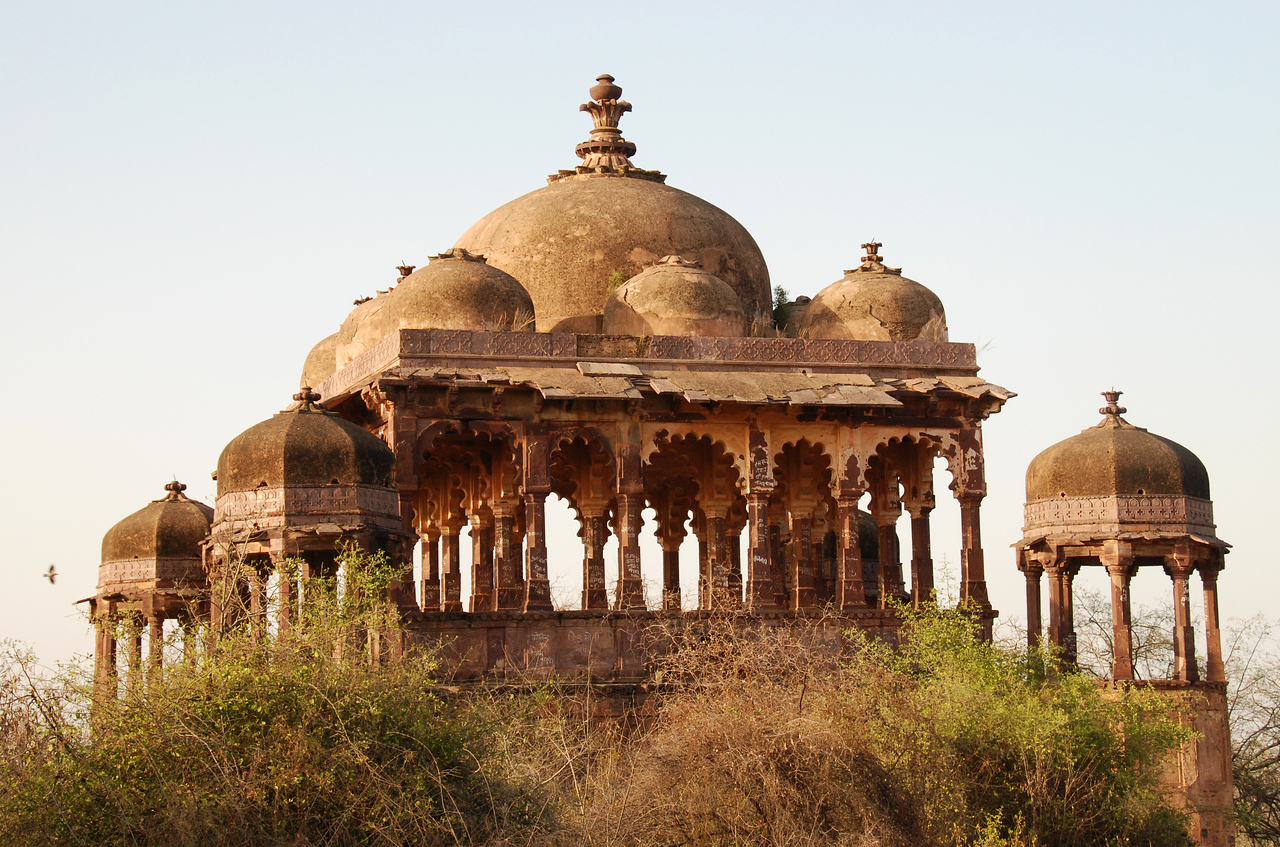 A thousand-year old temple at Ranthambore Fort atop a rocky outcrop above a wildlife preserve.  What doesn't show up in this photo is the graffiti and the trash strewn throughout the fort.