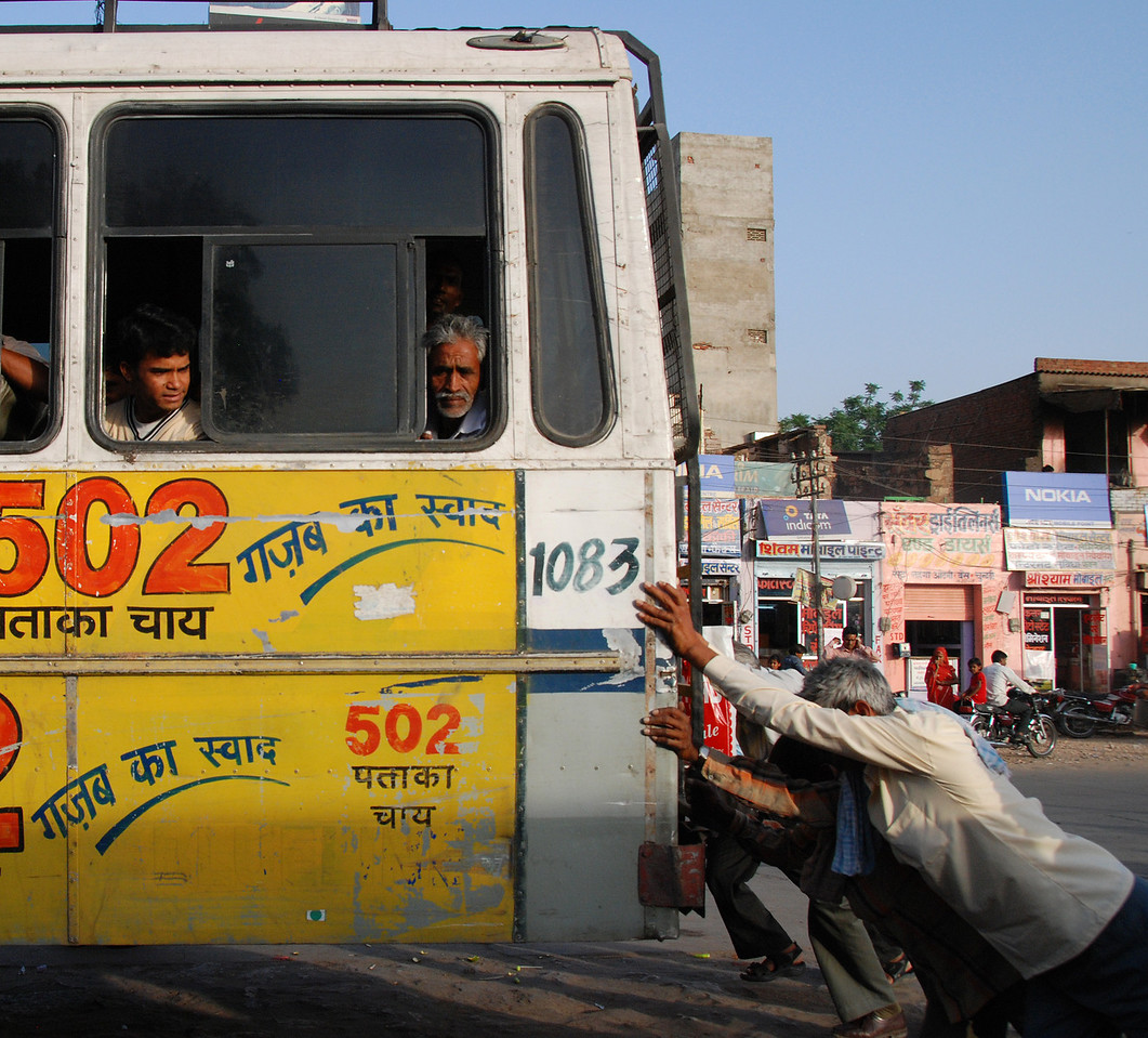 India Transportation: How local busses get started.