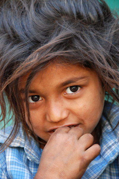 Faces of India: Young village girl.