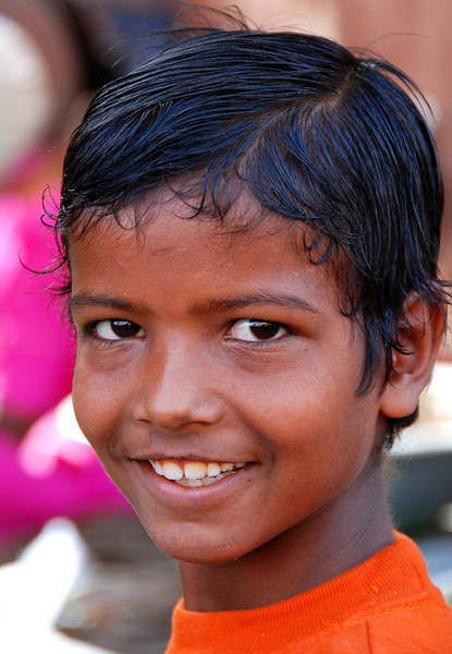 Faces of India: Smiling boy