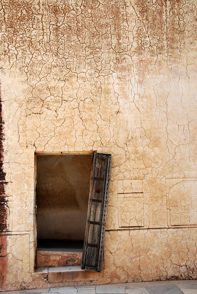 Not all the doorways in the Amber Fort are so decorative - but they are interesting.