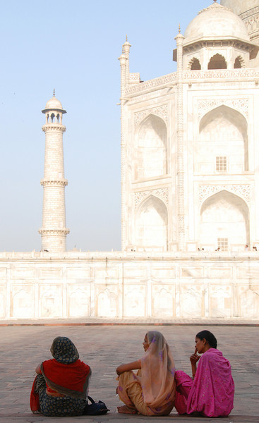 Tired Taj Majal visitors.
