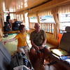 This is the Slow Boat that'll be our home on Mekong river for 2 days.