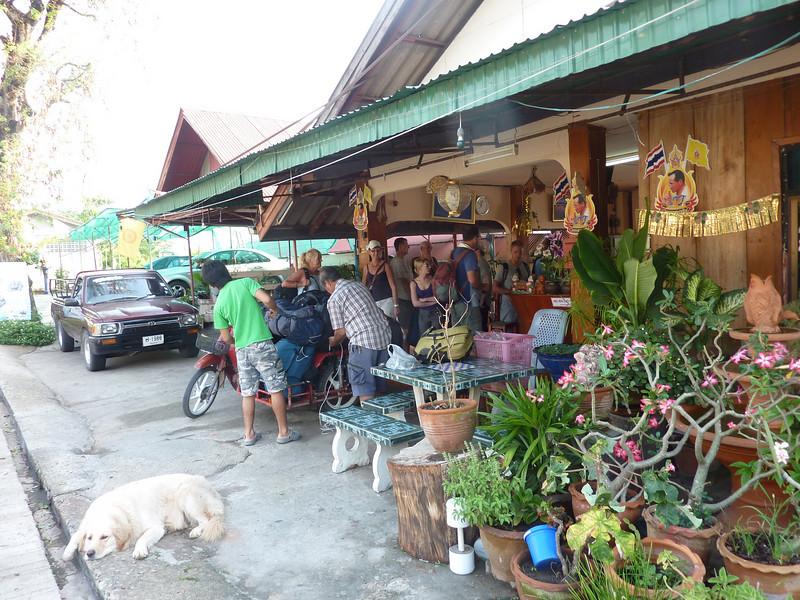 Leaving hotel at  Chiang Kong for the Laos border