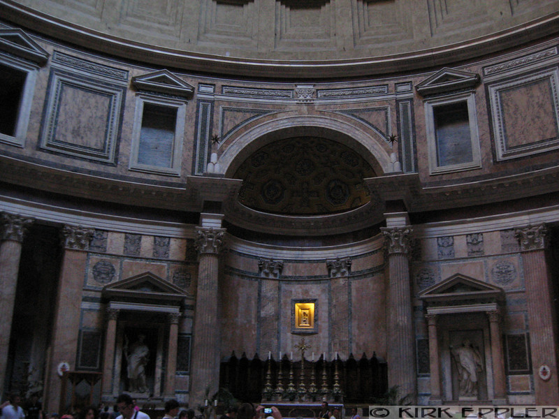 Inside the Pantheon, facing South