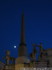 Moonrise near the Piazza del Quirinale