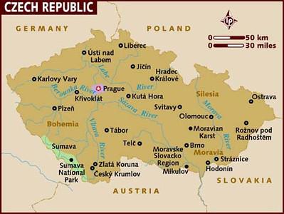 map of czech-republic