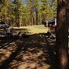 Our two campsites.  There was nobody near us (although the campground was quite full)