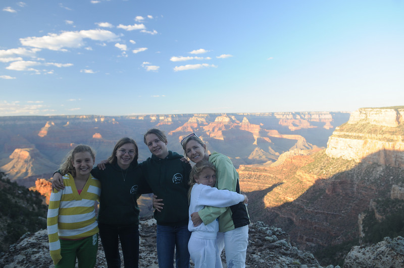 All the girls at the top of the canyon