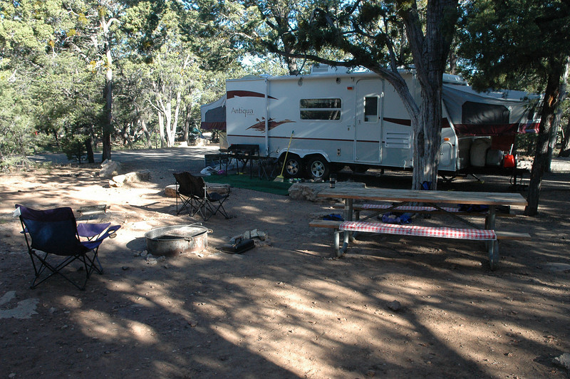 Our campsite at the Grand Canyon